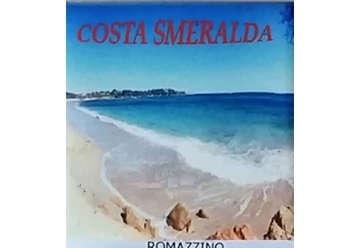 Immagine di Magnete Ceramica Costa Smeralda romazzino 5x5cm