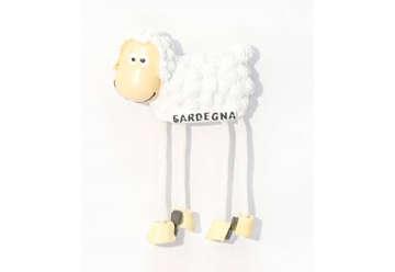 Immagine di Magnete Pecora gambe snodate Sardegna in resina