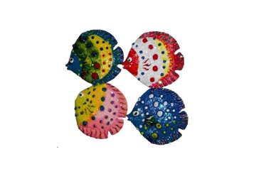 Immagine di Magnete Pesce brillantini in resina