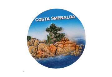 Immagine di Magnete resina tondo Costa Smeralda