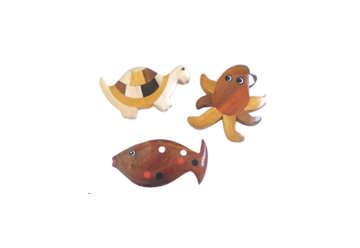 Immagine di Magneti soggetti marini in legno
