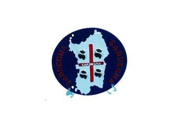 Immagine di Piatto blu Sardegna 4 Mori