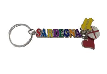 Immagine di Portachiavi charmes Sardegna in metallo