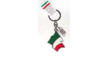 Immagine di Portachiavi metallo bandiera Italia + Sardegna 4Mori