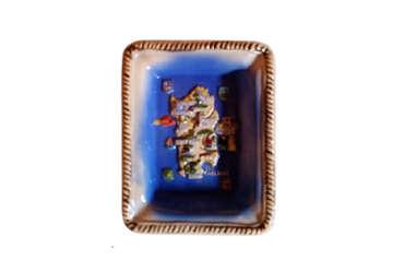 Immagine di Posacenere Sardegna rettangolare in ceramica