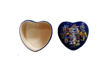 Immagine di Scatola cuore Sardegna in ceramica