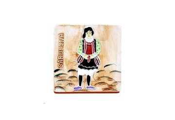 Immagine di Mattonella ceramica uomo Sardegna