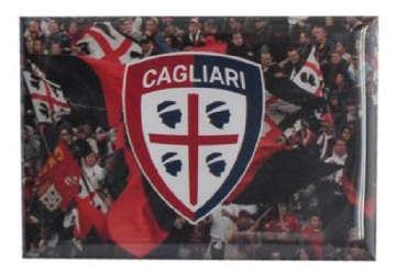 """Immagine di Magnete stampato """"tifo e logo"""" Cagliari 1920"""