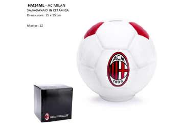 Immagine di Salvadanaio pallone ceramica Milan