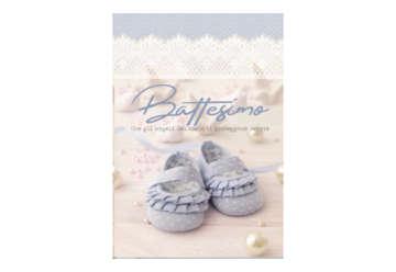 Immagine di Biglietto battesimo fotografico glitter con busta