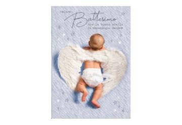 Immagine di Biglietto battesimo fotografico con glitter
