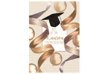 Immagine di Biglietto laurea c/foil