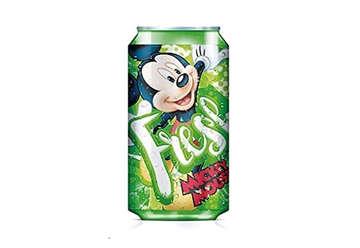Immagine di Mickey borraccia con cannuccia in alluminio
