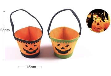Immagine di Cestino halloween in tessuto porta caramelle