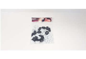 Immagine di Elastici mini bianco e nero