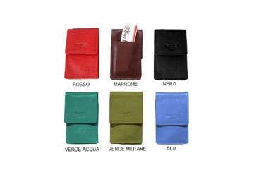 Immagine di Porta-pacchetto sigarette in pelle colori assortiti