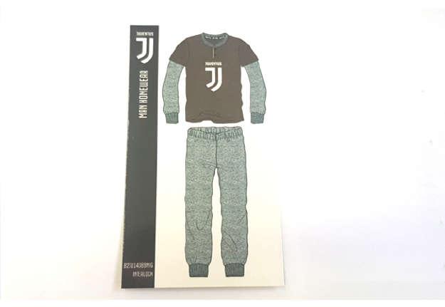 Immagine di Pigiama Juventus interlock nero XXL