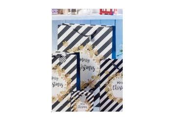 Immagine di Shopper Merry Christmas Black and White