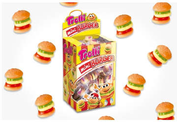 Immagine di Trolli mini burger 10gr box da 80pz