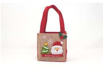 Immagine di Borsetta in tessuto natalizia