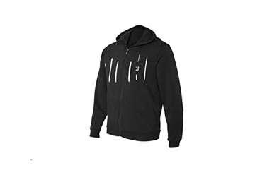 Immagine di Felpa bimbo Juve nera con zip e cappuccio 16anni