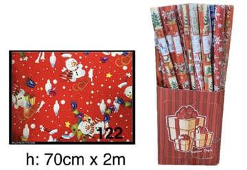 Immagine di Rotolo carta regalo natalizia H.70cmx2mt