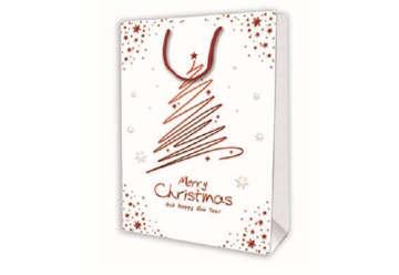 Immagine di Shopper con Albero Merry Christmas and Happy New Year Media