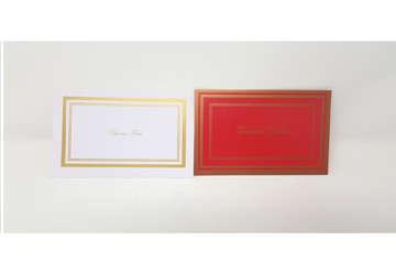 Immagine di Set busta e cartoncino Buone Feste Bianco e Rosso