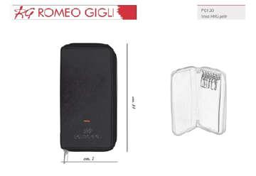 Immagine di Romeo Gigli porta chiavi nero uomo in pelle