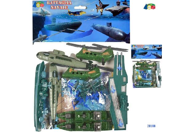 """Immagine di Busta """"Battaglia navale"""" con elicottero"""