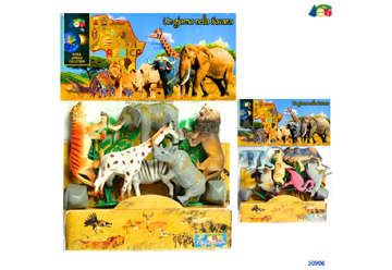 """Immagine di Busta zoo """"Un giorno nella savana"""""""