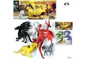 """Immagine di Busta """"Drago di fuoco con Unicorno"""""""