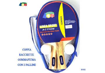Immagine di Confezione 2 racchette ping pong lusso