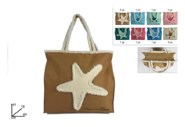 Immagine di Borsa mare in canvas con stella marina