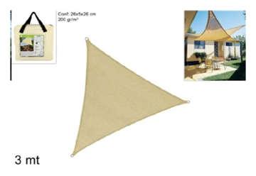 Immagine di Telo triangolare 3x3x3cm 200g/m2 beige