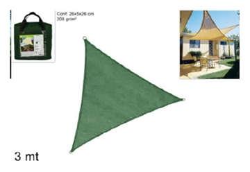 Immagine di Telo triangolare 3x3x3cm 200g/m2 verde