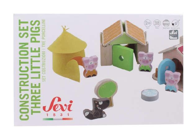 Immagine di Set costruzioni 'I Tre Porcellini'