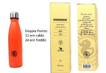 """Immagine di Borraccia 500ml in acciaio inox """"plastic free"""" Arancio in scatola"""
