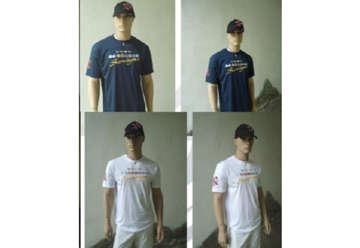 Immagine di T-shirt bianca bandierine nautiche 100% cotone tg XL