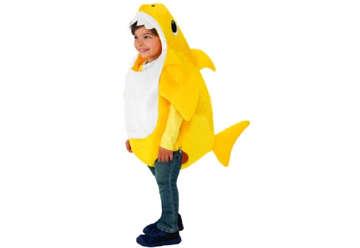 Immagine di Costume baby shark giallo con canzone 3-4 anni