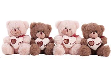 Immagine di Peluche Orsetto marrone  con cuore love