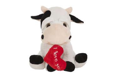 Immagine di Peluche mucca con cuore