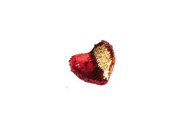 Immagine di Cuore con paillettes reversibile rosso/oro