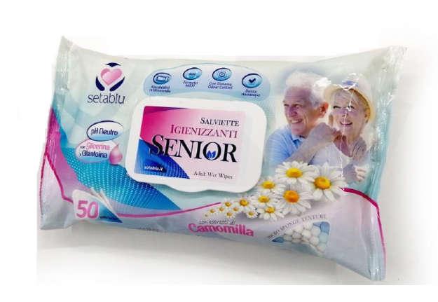 Immagine di Salviettine igenizzanti senior pop-up 50pz