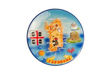 Immagine di Piatto in ceramica con rilievo Sardegna 15cm