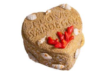 Immagine di Scatolina cuore in resina Corallo Sardegna 6.5cm