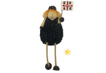 Immagine di Magnete resina Pecora nera gambe snodate Sardegna