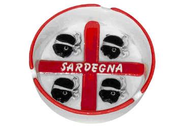 Immagine di Posacenere in ceramica con rilievo 4 Mori Sardegna