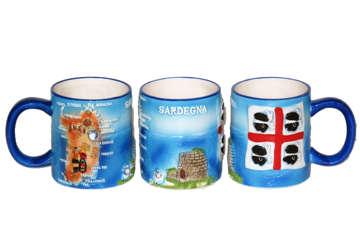 Immagine di Tazza ceramica con rilievo Sardegna