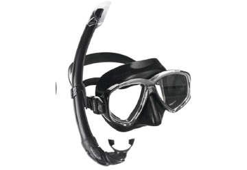 Immagine di Set maschera e boccaglio Perla nero adulto